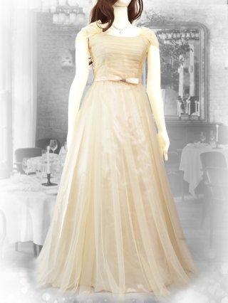 チロリアンベージュ*お袖付きロングドレス 1789 演奏会