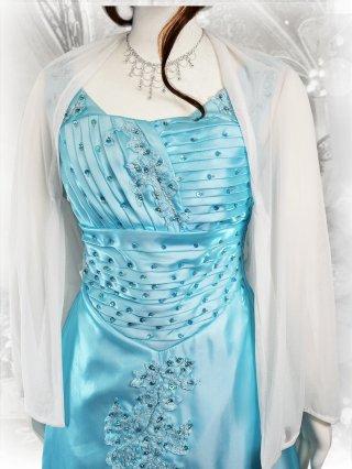 大人のホワイトボレロ*袖付き 演奏会用  羽織物