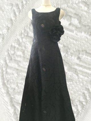 ブラック*ソフトマーメイドロングドレス2420 演奏会ロングドレス