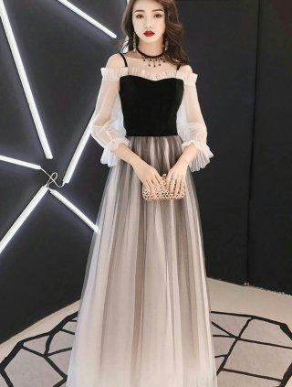 納期1か月・ベロア*プリンセスオフショルダードレス*演奏会ロングドレス