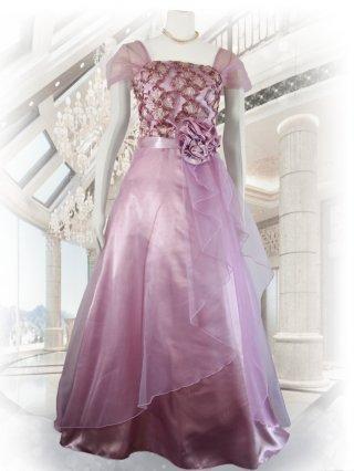 藤色艶カラーパープル*ロングドレス演奏会ステージドレス