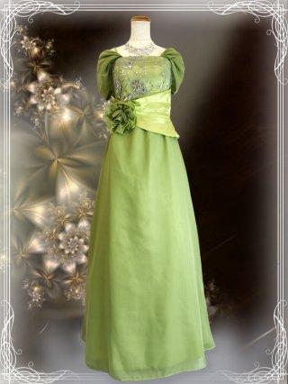 Bellグリーン・袖付きロングドレス 9981 演奏会ステージドレス