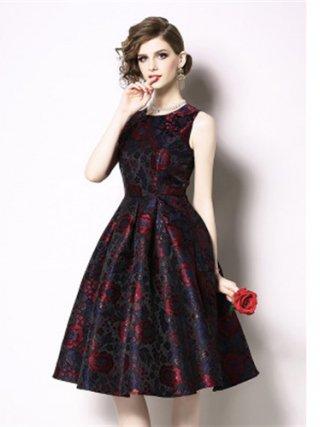 【5XL】レッド 高品質ラメ織ワンピースドレス Aラインスカート/ 演奏会 ラミューズドレス通販