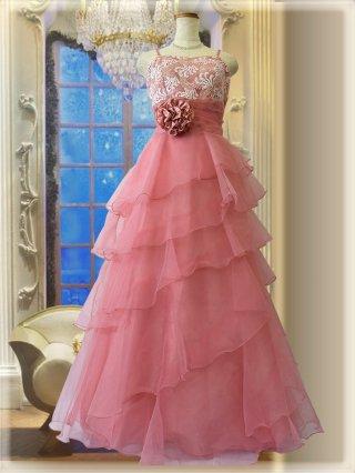 ピンク・オパール ロングドレス5298ステージドレス ラミューズ