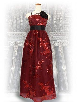 アガットレッドのロングドレス/演奏会 ラミューズドレス通販