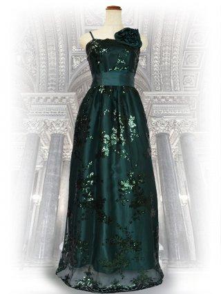 アガットグリーンのロングドレス/演奏会 ラミューズドレス通販