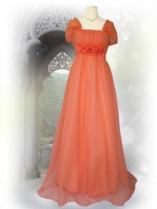 【7-15号】ビタミンオレンジロングドレス♪ステージドレス ラミューズ