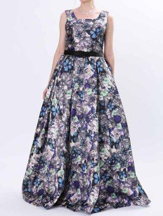 バタフライ柄ドレス 7658演奏会ステージドレス/ラミューズドレス演奏会