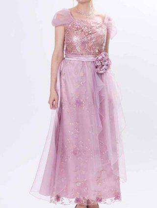 【LL】お袖付き*藤色ピンク*ロングドレス*演奏会