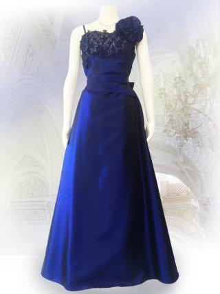 ベーシックな演奏会ドレス*ブルー*ロングドレス 演奏会 ラミューズドレス通販