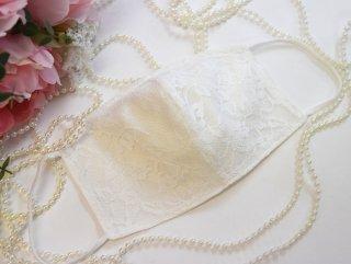 【L】夏用コットンシルクホワイト*肌荒れしない!洗える!シルク50%小顔マスク☆コロナ対策・風邪・花粉対策・喉のケアに☆マスク