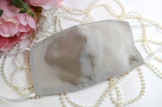 薄型夏仕様のシルクマスクモチーフ付*洗える!シルク100%マスク☆コロナ対策・風邪・花粉対策・喉のケアに☆マスク