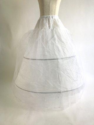 2段ワイヤーパニエ♪ロングドレス用 パニエ 4541/ 白 / ラミューズドレス通販