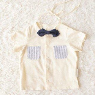 蝶ネクタイ付きユニセックストップス(サイズ70〜90)