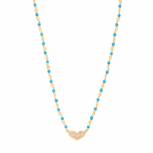 Heart Blue Necklace