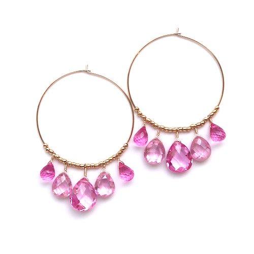 Quartz pink pierce