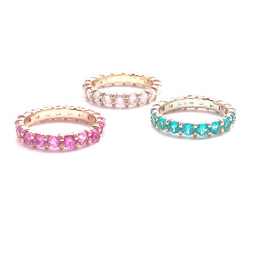 Dia eternity pinky ring