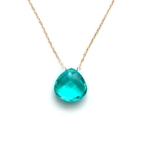 Cyan blue necklace