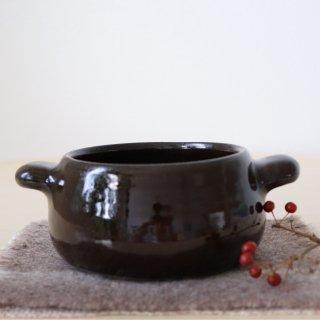 耐熱手付スープボウル小(ブラックコーヒー)/藤居奈菜江
