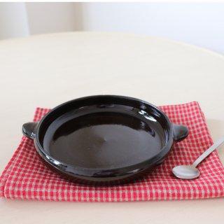 耐熱手付皿Φ16cm (ブラックコーヒー)/藤居奈菜江