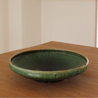 緑釉平鉢/松村英治