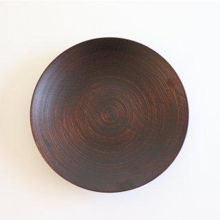 欅筋目カレー皿Φ8茶/蝶野秀紀