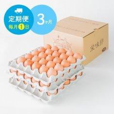 【毎月1日に3ヶ月間お届け】栄味卵(75個)