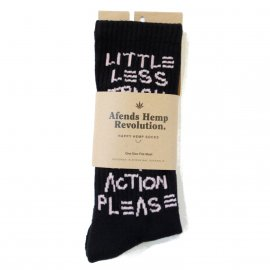 <img class='new_mark_img1' src='https://img.shop-pro.jp/img/new/icons7.gif' style='border:none;display:inline;margin:0px;padding:0px;width:auto;' />TRASH HEMP SOCKS ONE PACK/AFENDS(アフェンズ)