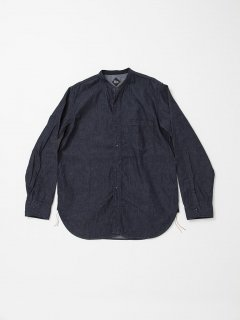 <img class='new_mark_img1' src='https://img.shop-pro.jp/img/new/icons15.gif' style='border:none;display:inline;margin:0px;padding:0px;width:auto;' />CS099 NAVY 1POCKET BAND COLLAR / 6oz DENIM / INDIGO