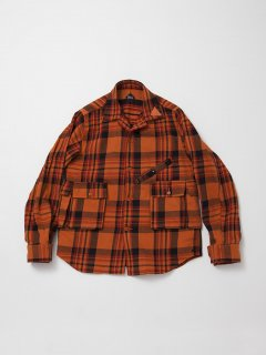 <img class='new_mark_img1' src='https://img.shop-pro.jp/img/new/icons15.gif' style='border:none;display:inline;margin:0px;padding:0px;width:auto;' />CS086 HUNTER HIKER SHIRT / COTTON CHECK NEL / ORANGE