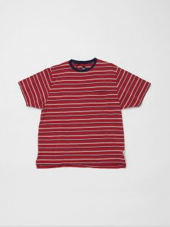 <img class='new_mark_img1' src='https://img.shop-pro.jp/img/new/icons15.gif' style='border:none;display:inline;margin:0px;padding:0px;width:auto;' />CC010  CORONA・STRIPE POCKET TEE 19 / MULTI STRIPE JERSEY / RED />                   </a>             <span class=