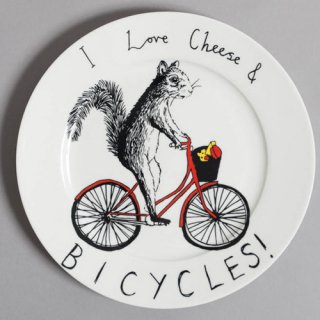【Jimbobart】I LOVE CHEESE & BICYCLES サイドプレート【数量限定】