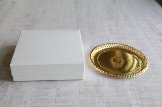 ホワイティハウス ゴールドケーキトレーセット(4.5寸)