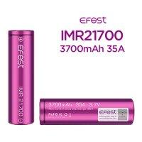 【ネコポス対応可】【正規品】Efest IMR21700 3700mAh 35A 1本【イーフェスト フラットトップ バッテリー】