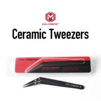 【ネコポス対応可】COIL MASTER Elbow Ceramic Tweezers【コイルマスター セラミックピンセット】