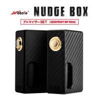 Wotofo NUDGE Mechanical MOD(ナッジ)【アトマイザーSET】【ウォトフォ】【サブオーム対応】【ボックスタイプ BOX】【ボトムフィーダー メカニカルスコンカー】