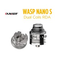 <img class='new_mark_img1' src='https://img.shop-pro.jp/img/new/icons1.gif' style='border:none;display:inline;margin:0px;padding:0px;width:auto;' />OUMIER WASP NANO S Dual Coils RDA 25mm【オウミヤー ワスプナノエス デュアルコイル アトマイザー】