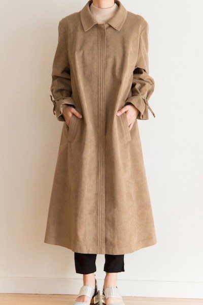 Flux leather coat