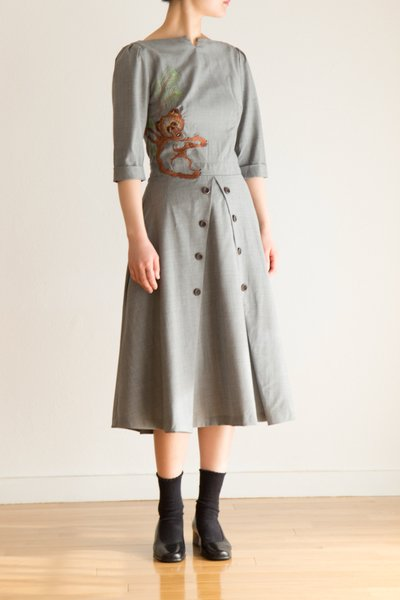 Koala embroidery dress