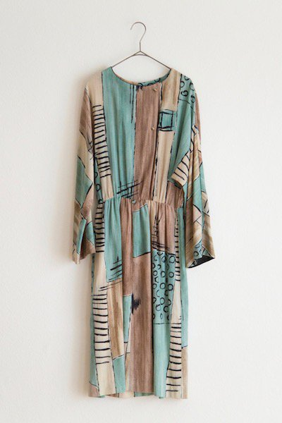 Abstract pattern cotton dress