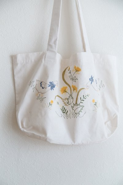 Hungarian embroidered tote bag