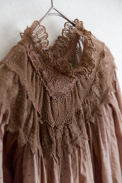 Lace mix classical blouse