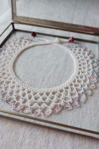 Czech glass beads detachable collar