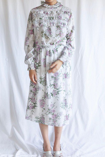 Romantic floral blouse & skirt set