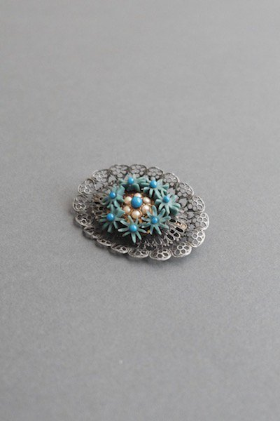 Antique Czech forgotten brooch - mint