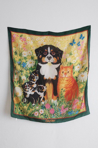 Cutie family club silk scarf
