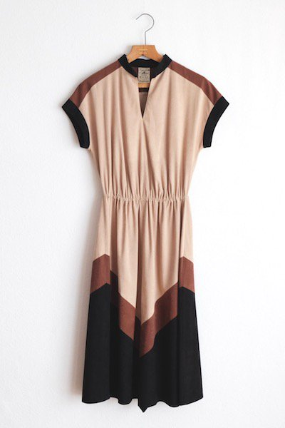 Faux suede Pre-Fall dress