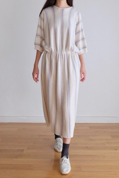 Pastel stripe knit dress