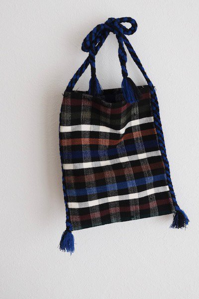 Romanian check tote bag