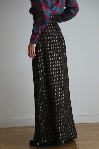High waisted long retro skirt